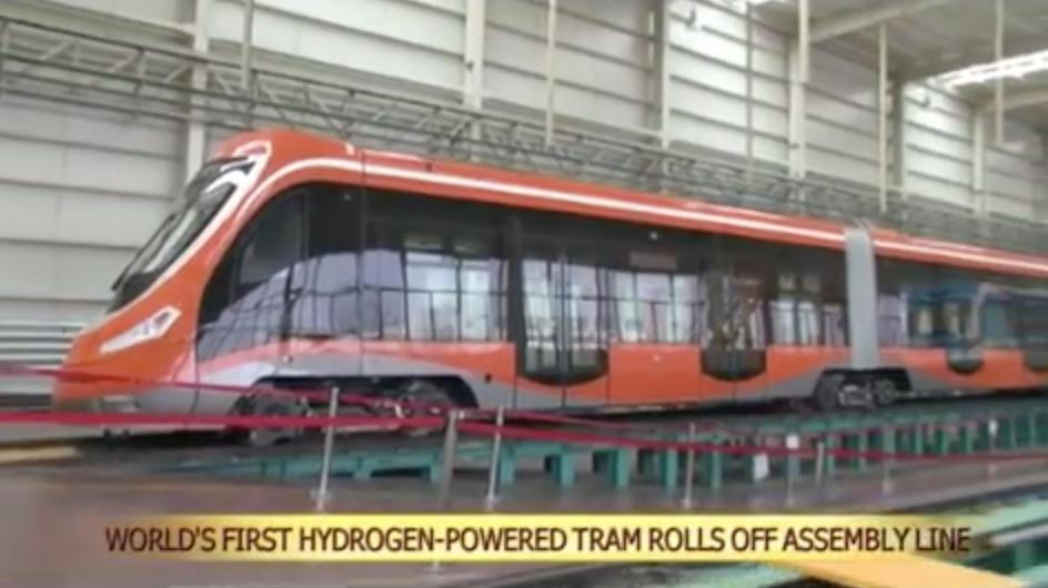 China designs the world's first hydrogen tram