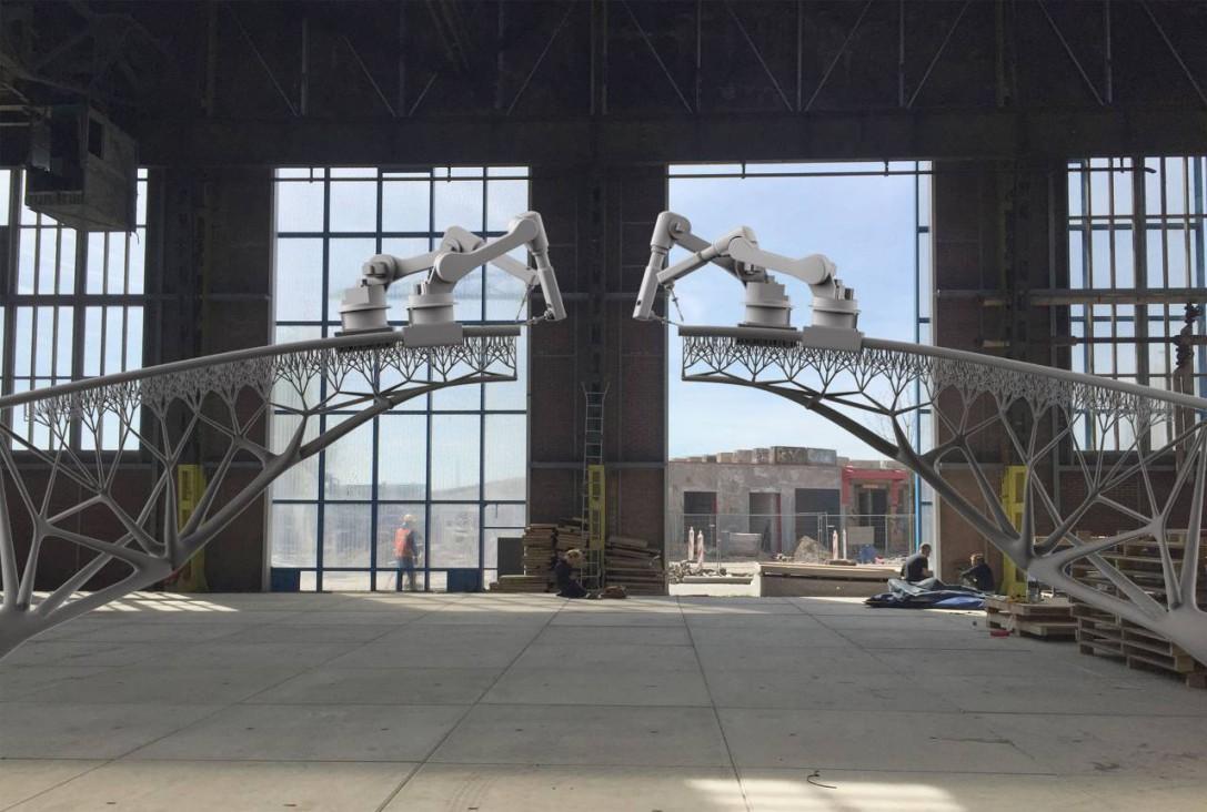 This Robot Can 3-D Print A Steel Bridge In Mid-Air