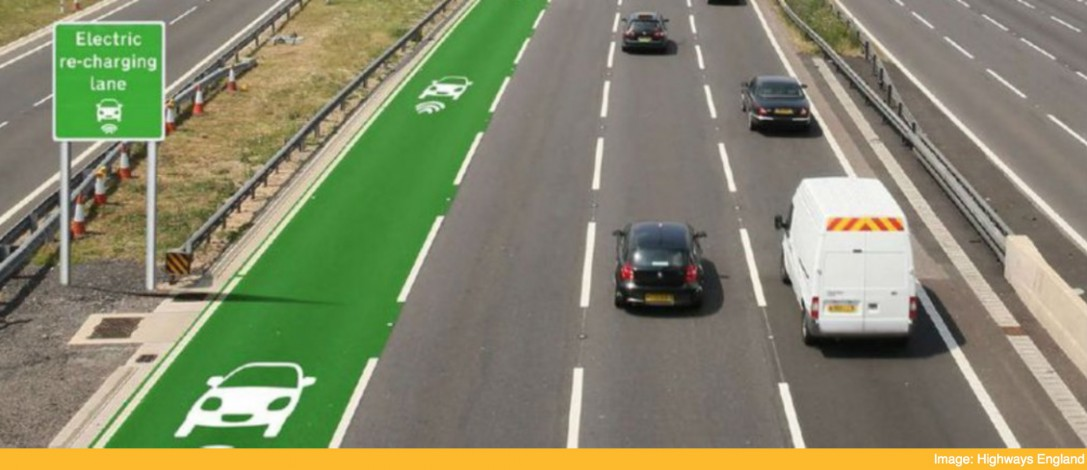 The UK is trialling a new road surface that charges your electric car as you drive