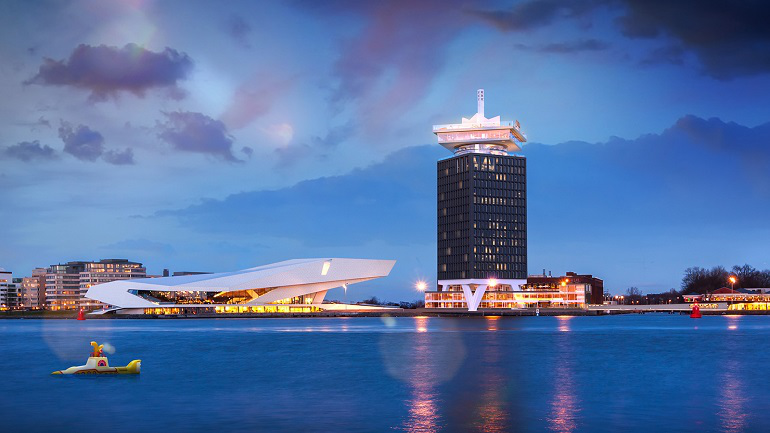 The A'DAM Tower: usage of warmth and cold