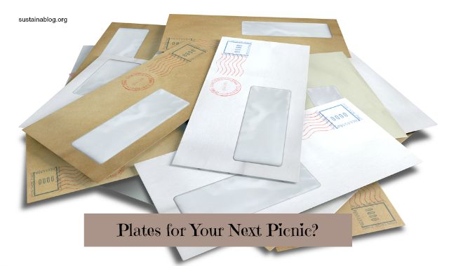 Upcycling Junk Mail Into Paper Plates And Tableware